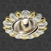 Светильник встраиваемый 369820 NT12 282 серебро/золото ПВ IP20 GX5.3 50W 12V FLOWER - 315 руб.