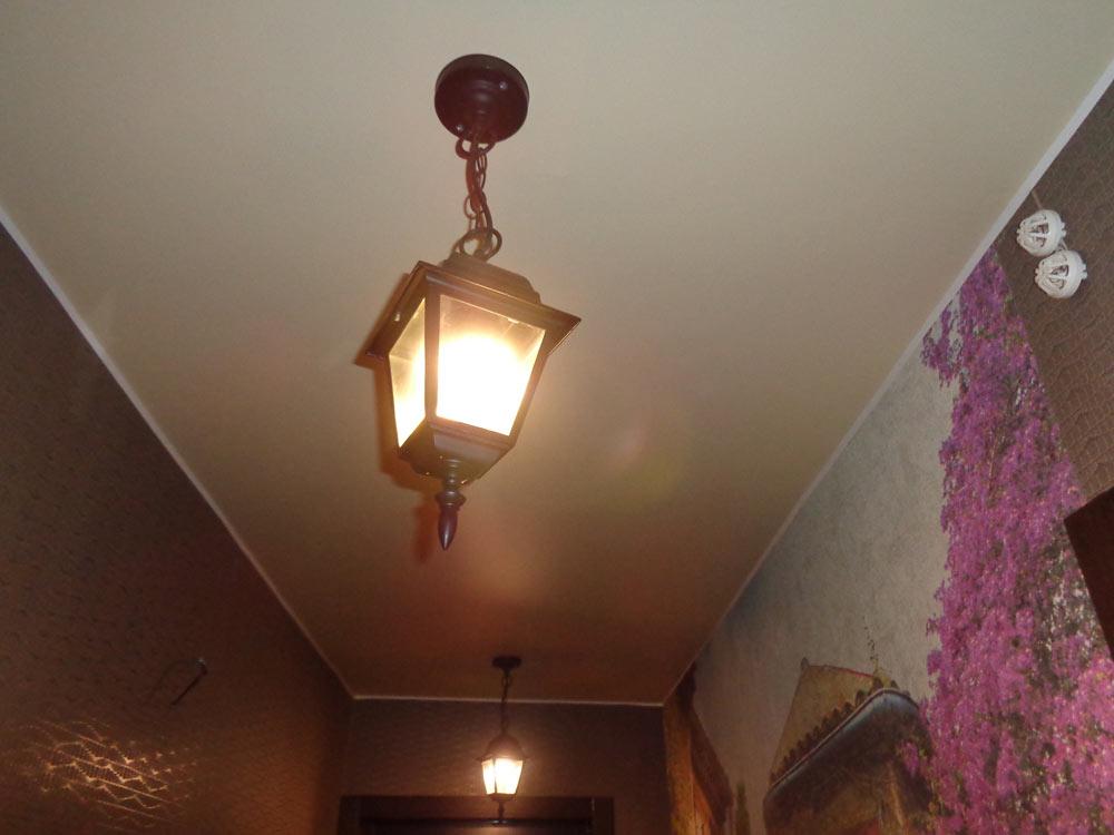 тканевые натяжные потолки фото