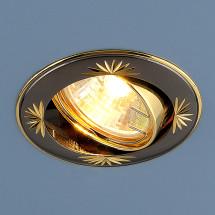 Точечный светильник 104A GU/GD черный / золото 247р