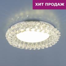Точечный светильник с хрусталем 1063 GX53 CH / CL хром / прозрачный 613р