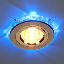 Точечный светильник светодиодный 2020 /2 GD/LED/BL MR16 (золото / синий)530 р