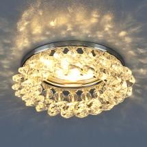 Светильник точечный с хрусталем 206 CH/CLEAR MR16 (хром/прозрачный) 467р