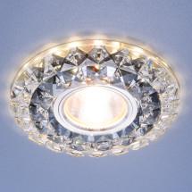 Встраиваемый потолочный светильник со светодиодной подсветкой 2170 MR16 SBK CL дымчатый прозрачный 784р