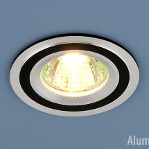 Алюминиевый точечный светильник 5305 MR16 хром/черный 266р