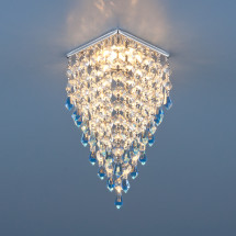 Встраиваемый потолочный светильник 2010 хром/прозрачный/голубой MR16 (СH/Clear/BL)511р