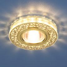 Встраиваемый светильник MR16 CH/CL золото/прозрачный (6034) 664р