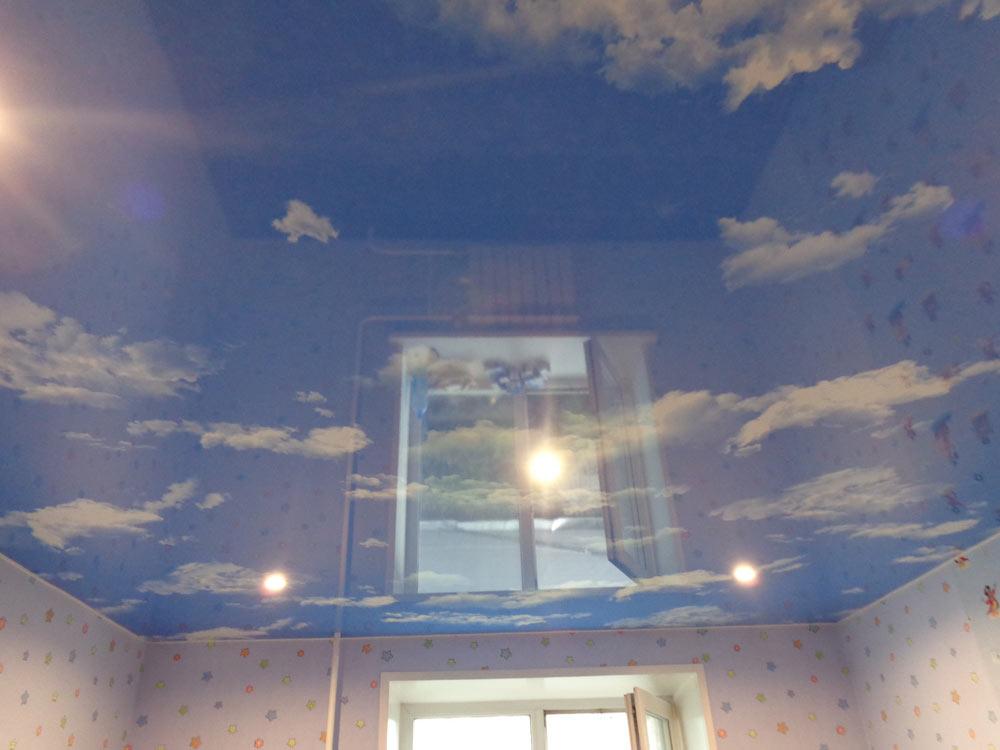 натяжной потолок с фотопечатью фото